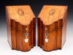 Pair of Satinwood Cutlery Boxes