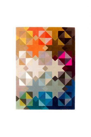 Geometric Triangles - Handmade wool rug 2016