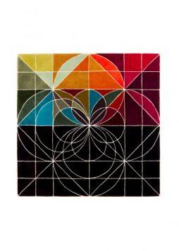 Geometric circles - Handmade wool rug 2016