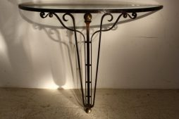 French 1940's Metal Console