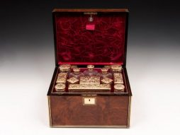 Amboyna Silver Gilt Dressing Box - POA