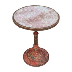 Beautiful Red / Pink Café Table from Paris Brasserie