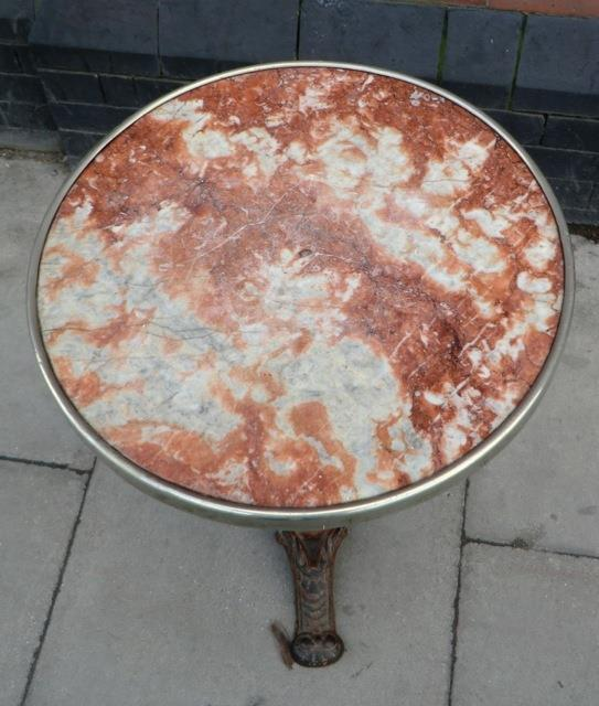 Red Marble Top : Red marble top bistro table from france interior