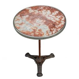 Red Marble Top Bistro Table from France