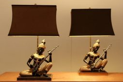 Pair Of Buddha Lamps