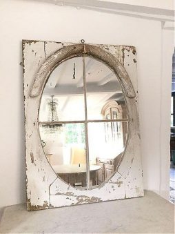 French Architectural 19thC Window Mirror