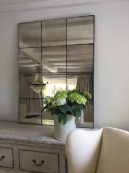 Hand Silvered Antiqued Panelled Foxed Mirrors