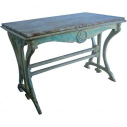Antique Marble Topped French Café Table