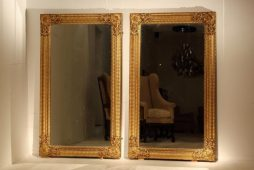 Pair Of Large 19th Century Gilded Mirrors