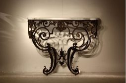 Antique French Metal Console Table