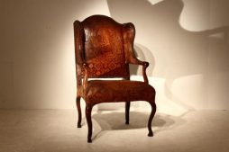 18th Century Italian Leather Chair