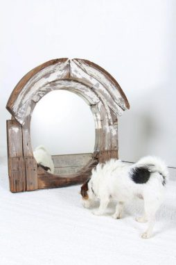 Exceptional 19th Century Oeil de Boeuf Window Mirror