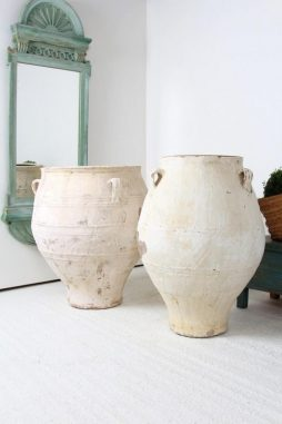 XXL Antique Greek 19th Century Terracotta Olive Urns - POA