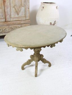 Antique Danish 19th Century Oval Pedestal Lamp Table