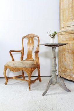 Late 18thC Swedish Period Rococo Armchair