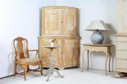 Swedish Gustavian 19thC Corner Cabinet