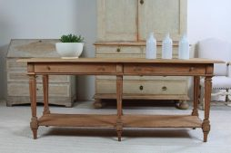 Superb French 19th Century Oak Drapers Table Console