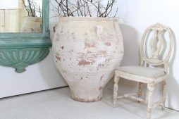 XXL Antique Greek 19th Century Terracotta Olive Urn