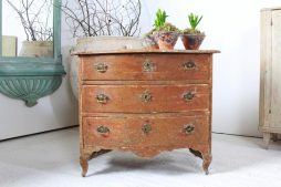 Curved Swedish 18th Century Period Rococo Commode
