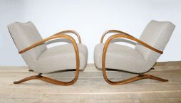 Antique Pair of Armchairs by Jindrich Halabala