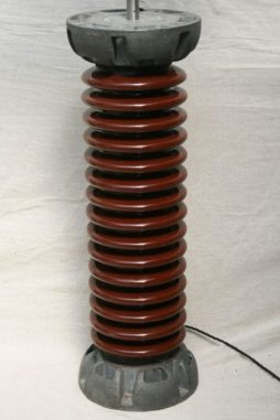 Tall Vintage Industrial Ceramic Insulator Lamp