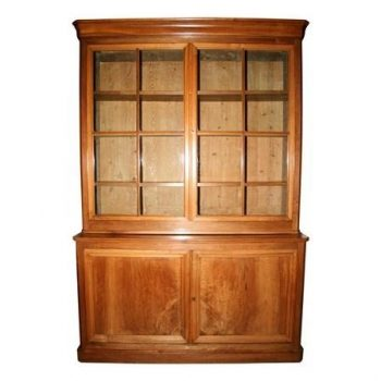 Antique 19th Century French Walnut Bookcase