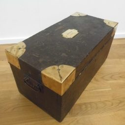19th Century Georgian Brass Bound Trunk