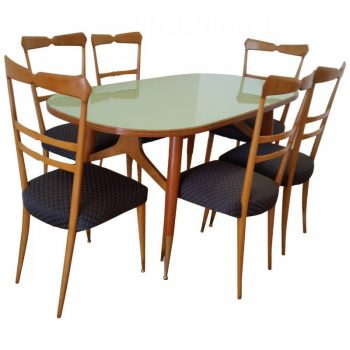 Mid 20th Century Design Ico and luisa Parisi Italian Dining Table and Six Chairs