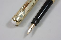 Rare Montblanc 14 kt Gold Octagonal no 2 Safety Pen Produced in 1928