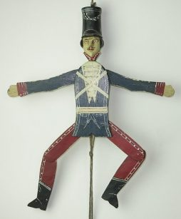 19th century German Folk Art Hussar Jumping Jack