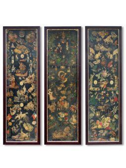 Six Individually Framed Antique Victorian Scrap Screen Panels - POA