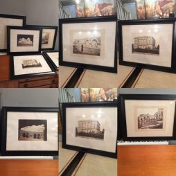 A Set of six 19th Century Grand Tour Photographs in Ebonised Frame