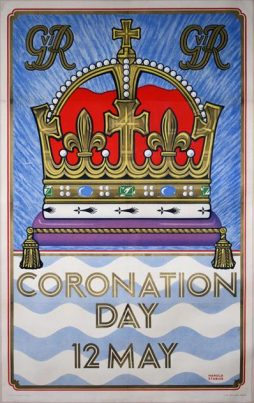 Rare London Underground Double-Crown Poster Announcing the Coronation of George VI, 1937