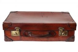 Antique 1920s Leather Suitcase