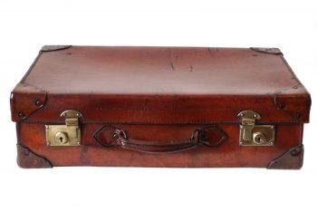Antique 1920s Leather Suitcase