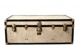Antique Vellum Trunk by Watajoy Retailed by Harrods