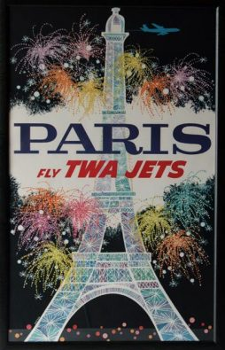 David Klein (1918-2005) An Original TWA Paris Travel Poster, 1960s