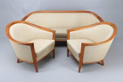 Stylish Swedish Mid-Century 1950s Elm Suite by Broderna Andersson