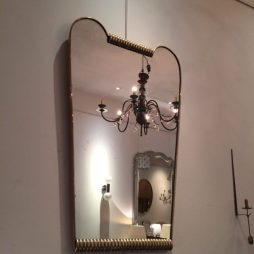 Italian Mid-Century Brass Shaped Mirror