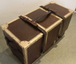 Antique Victorian Military Boot Box Trunk
