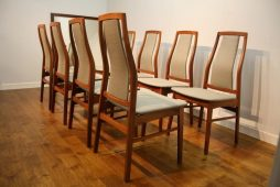 Set of 8 Danish 1970s Dining Chairs