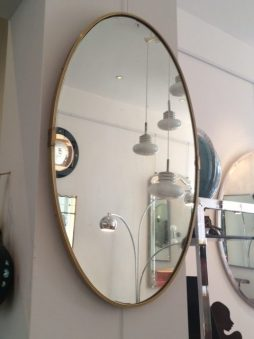 Vintage Oval Brass Mirror