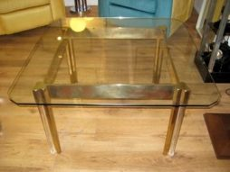 Brass and Perspex Coffee Table - POA