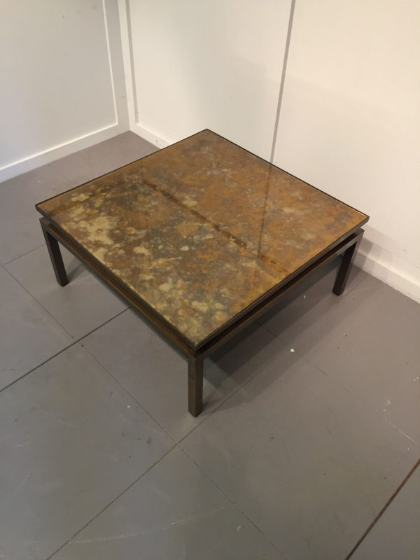 Low square coffee table in patinated bronze interior boutiques antiques for sale and mid Low coffee table square