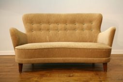 Fab Small 1940s/50s Buttoned Danish Sofa