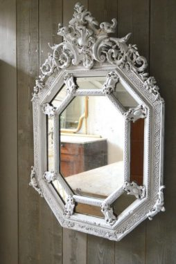 French 19th Century Antique Cushion Mirror