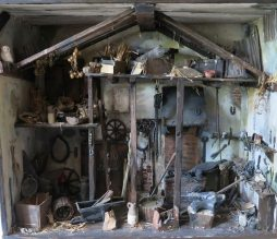 Wonderfully Detailed 3D Diorama Model of a Farriers Workshop