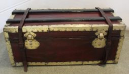 Small Antique Red Trunk