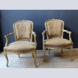 Antique Pair of French Fauteuil Armchairs