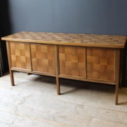 Mid 20th Century French Parquetry style 4 Door Sideboard